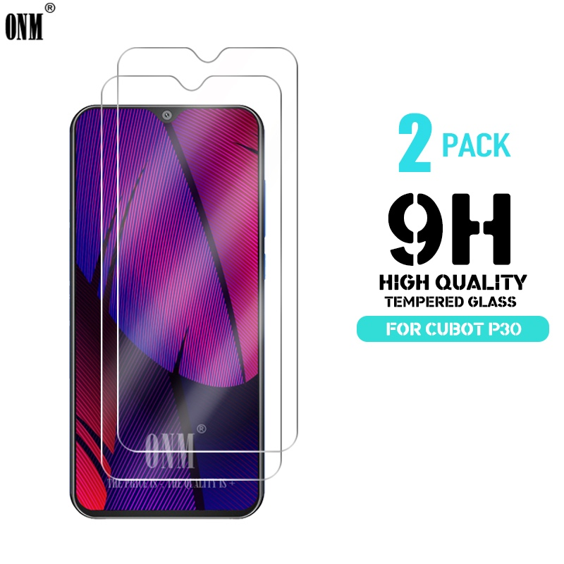 2 Pcs Cubot P30 Tempered Glass For Cubot P30 P20 Screen Protector Premium Tempered Glass For Cubot P30 Screen Protective Film(China)