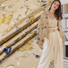 Satin jacquard clothing fabric Polyester cotton clothing fabric sewing material for dress high-quality exquisite pattern fabric