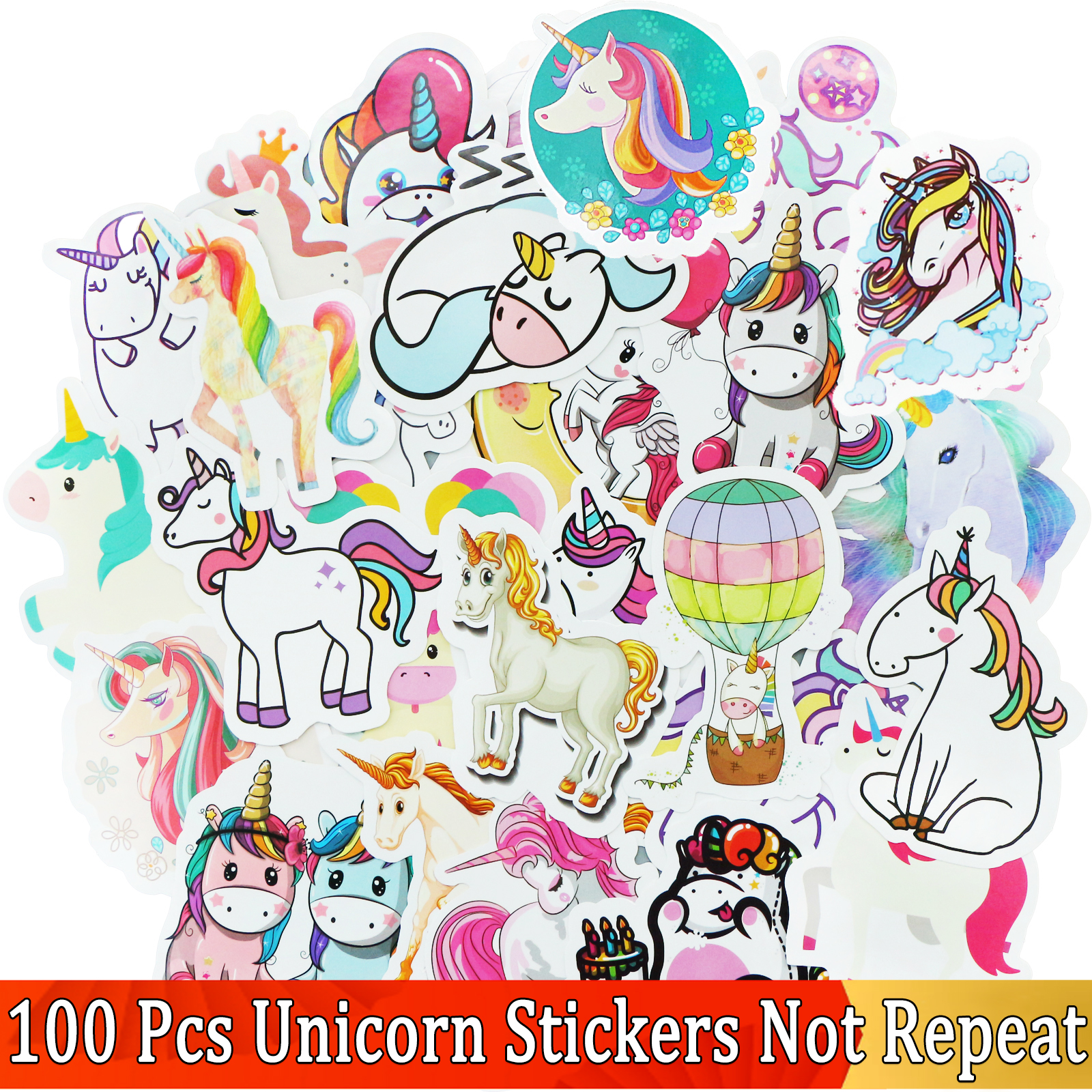 50/100 Pcs JDM Cartoon VSCO Girls Cute Stickers For Unicorn Laptop Skateboard Styling Motorcycle Doodle Decals Sticker Funny Toy
