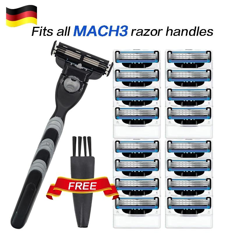 Mach3 Gillette 8pcs Razor Blades Men Shaving Razor Blade For Men Face Hair Remova Sharp 3-Layer Shaver Blade