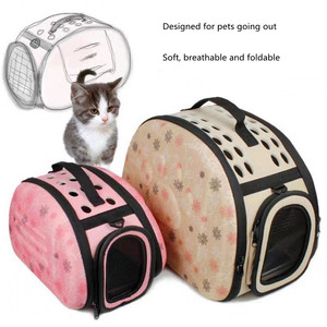 Image 4 - EVA Pet Carrier Dogs Cat Folding Cage Collapsible Crate Handbag Carrying Bags Pets Supplies Transport Chien Puppy Accessories
