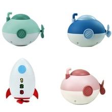 Cute Little Submarine Rocket Bathing Bathtub Toys For Baby Kids