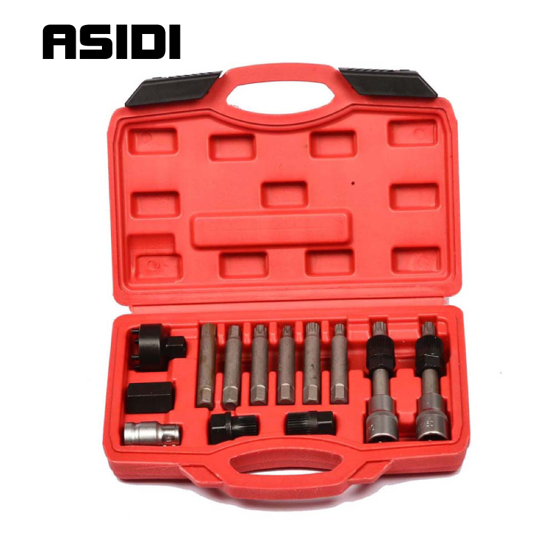 13 Piece Alternator Pulley Tool Kit Auto Repair Tools