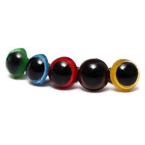 Image 4 - Toptan 100 adet/50 çift 5 renk Mix 8mm plastik güvenlik gözler kutusu oyuncak ayı doldurulmuş oyuncak yapış hayvan kukla bebek zanaat DIY
