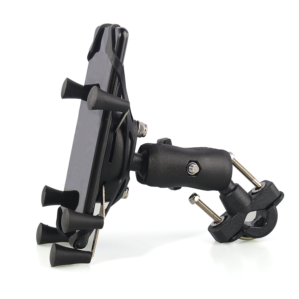 Motorcycle Phone Holder Bicycle Phone Holder Bike Handlebar Support Motor Mount Card Slots For 3.5-6.3 Inch