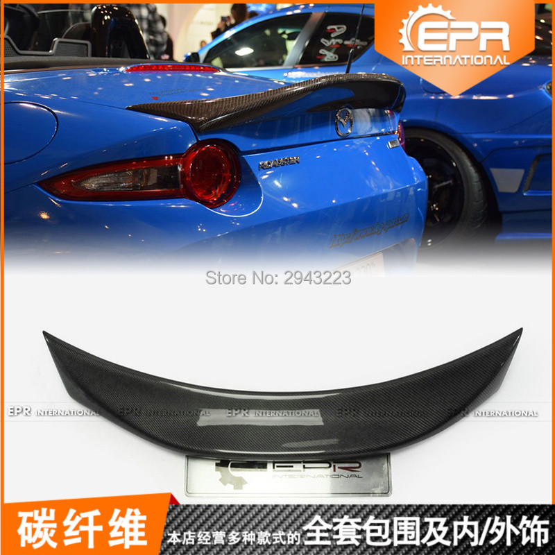 For <font><b>Mazda</b></font> MX5 Miata ND <font><b>RF</b></font> LMS Style Duckbill Spoiler Car Accessories Real Carbon Fiber Rear Trunk Lip Spoiler Wing Decoration image