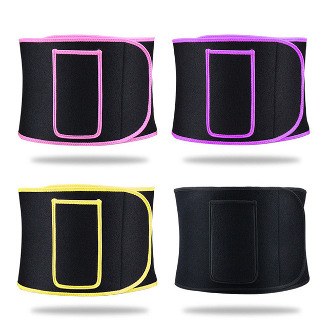 Adjustable Elastic Sports Belt Lumbar Pressurize Shaped Sweat-absorbent Body Abdomen Yoga Weightlifting Protective with Pocket 1