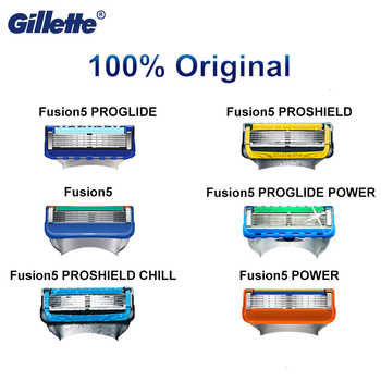 Original Gillette Fusion 5 Proglide Proshield Shaving Blades Safety Male Shaving Face Care Genuine Fusion Replaceable Blades - DISCOUNT ITEM  35% OFF All Category