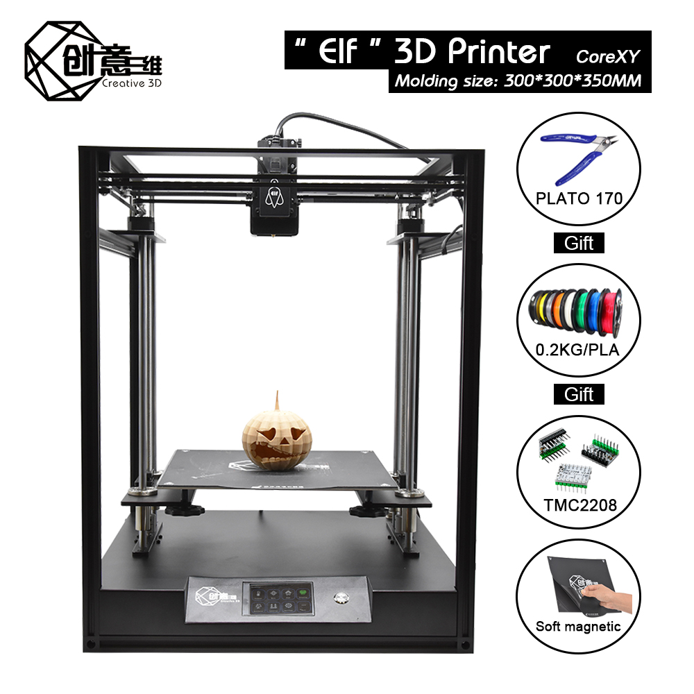 3d-Printer-Kit Core-Xy Creative3d Elf Dual-Z-Axis Large-Size High-Precision DIY FDM  title=