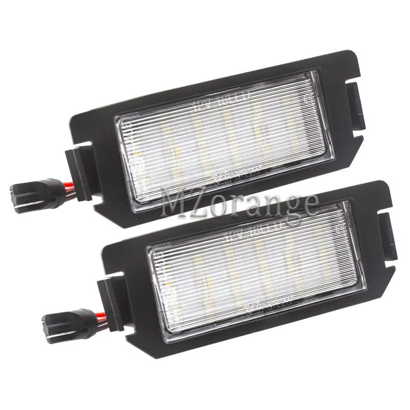 1 paar SMD LED Kennzeichen Licht Für Hyundai I10 I20 tiburon Coupe s III F/L2 Auto-styling Auto Teile Ersatz Zubehör