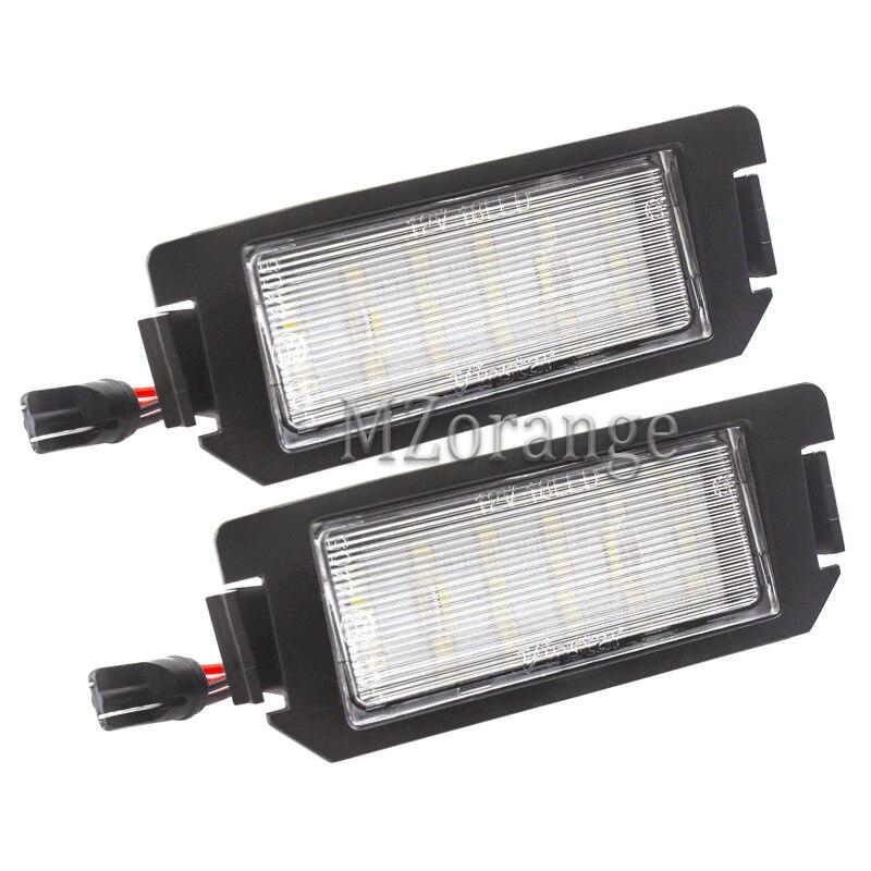 Luz LED de matrícula SMD para coche, accesorios de repuesto para Hyundai I10, I20, tiburon Coupe s III F/L2, 1 par