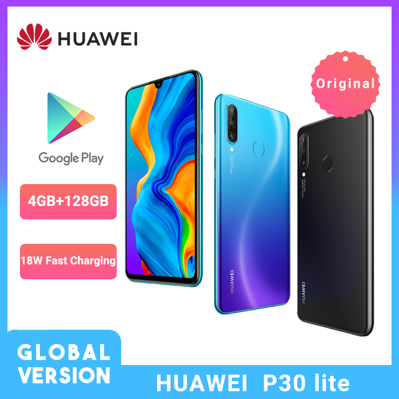 Global Version Huawei P30 Lite Smartphone 6.15 Inch Kirin 710 Octa Core Cellphone NFC Triple Camera Android 9.0 Mobile Phone