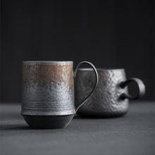 Керамическая винтажная кофейная чашка ручной работы в японском