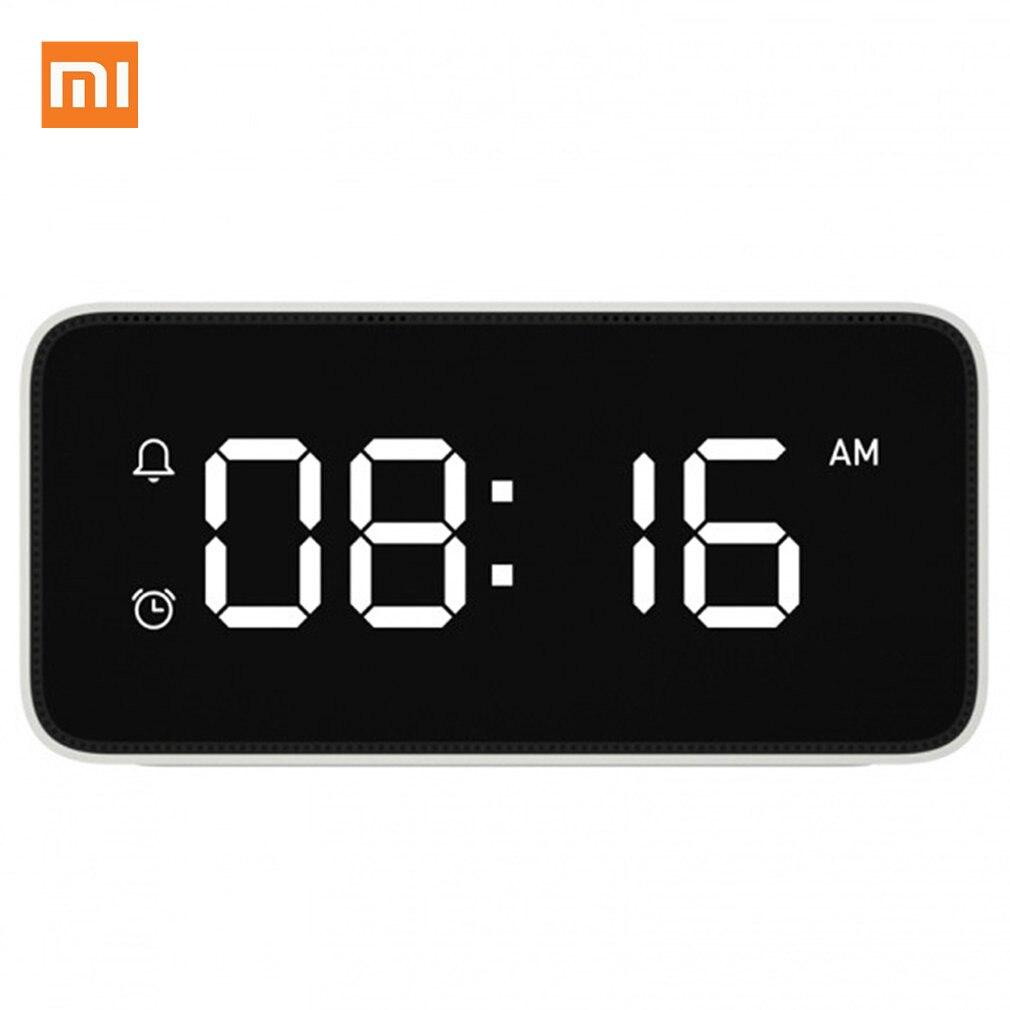 Tüketici Elektroniği'ten Akıllı Uzaktan Kumanda'de Orijinal Xiao mi Xiaoai Akıllı Çalar saat ses Yayını Saat ABS MASA Dersktop Saatler AutomaticTime Kalibrasyon mi ev uygulaması title=