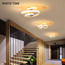 Lámpara Led moderna de corredor de araña para dormitorio, sala de estar, comedor, cocina, lámpara de techo interior, blanco y negro