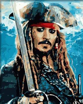 Painting By Numbers captain Jack Sparrow Pirate