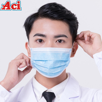 Fast Delivery Disposable Face Mask 3 Layer Filter Protective Meltblown Non-Wove Anti Dust Safety Disposable Mouth Masks
