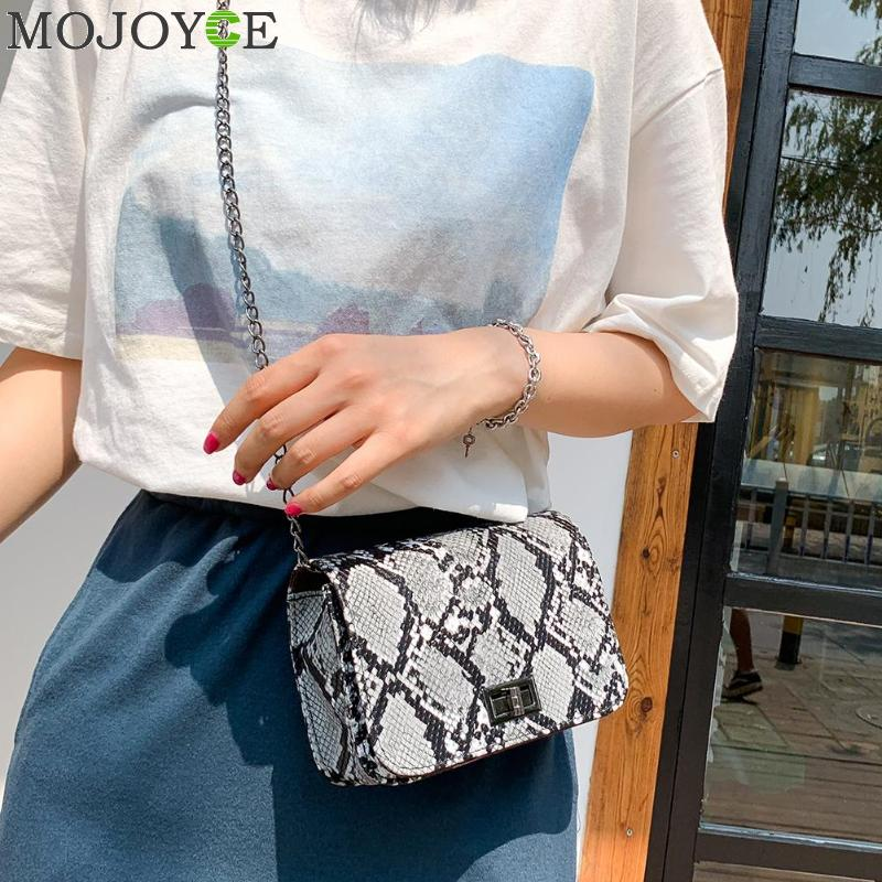 Snake Print Women Shoulder Bag Luxury Handbags Women Bags Designer Luxury Wild Girls Small Square Messenger Bag Bolsa Feminina
