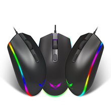 Gaming Mouse Gamer Backlight Ergonomic Mice PC Mouse Usb Cable for Tablet Noteboo1600DPI 4D Black Color