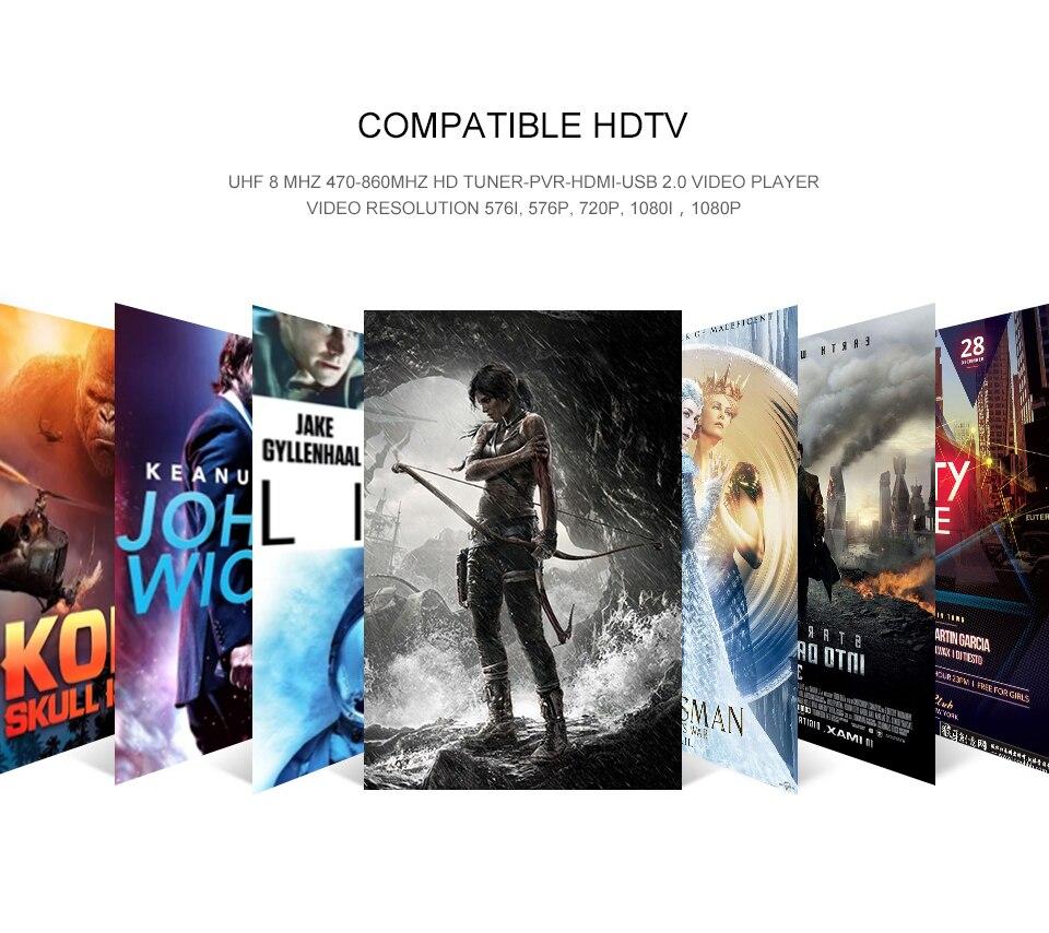 HDMI спутниковый ТВ приемник тюнер Dvb T2 Wifi Usb2.0 Full-HD 1080P Dvb-t2-тюнер Tv Box Dvbt2 или антенна встроенное в русском руководстве