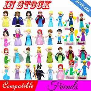 Pour les amis de Legoing pour fille princesse Emma Stephanie Mia Olivia Andrea figurines de beauté blocs de construction jouets avec Legoings amis(China)