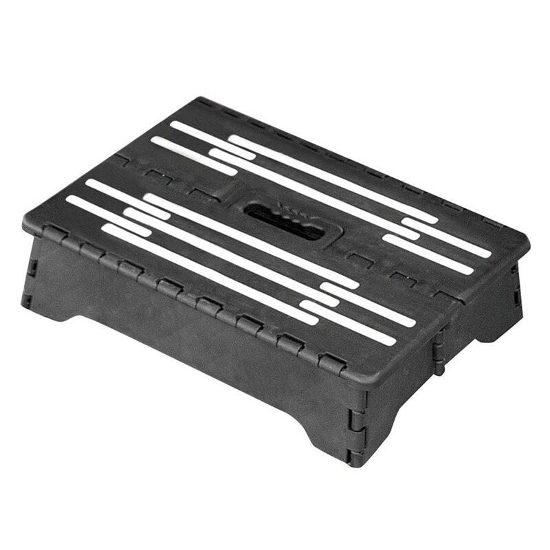 New-Portable Help Step Folding Riser Step Stool - Black
