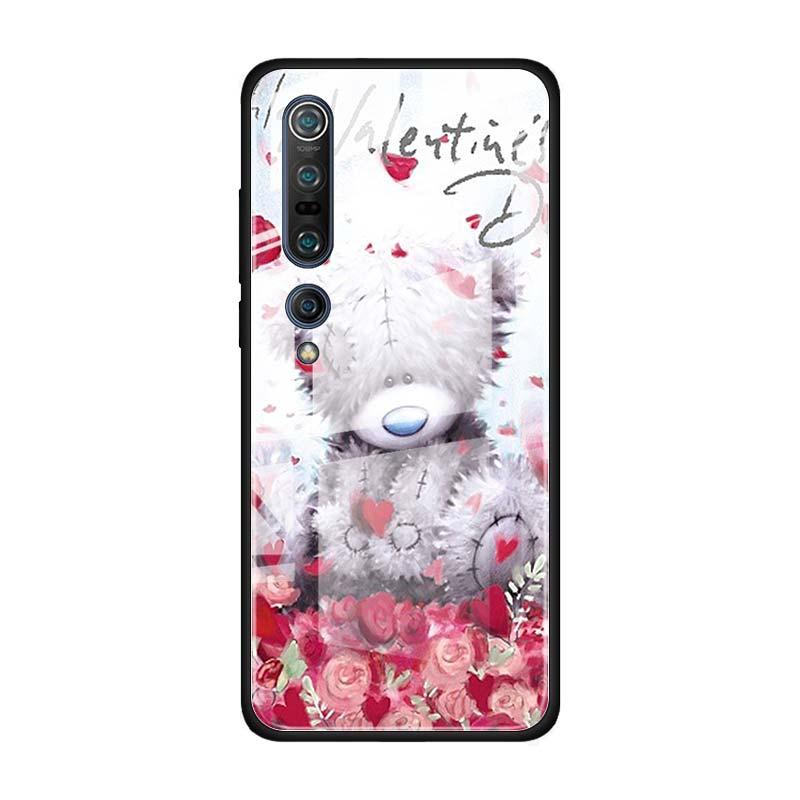 Tatty Teddy Me To You Bear Tempered Glass Case For Xiaomi Mi Note 10 Pro CC9 CC9E A3 9T 8 Lite 10 Lite 5G Poco X2 Cover Coque