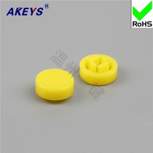 20pcs Red and yellow round switch cap B3F keystroke A37 with 1212o7.3