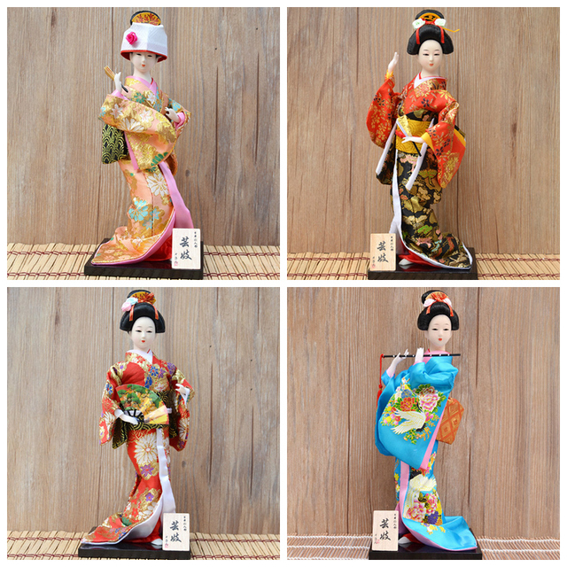 30cm Japanese Kimonos Dolls Traditional Japanese Geisha Figurines Statues Ornaments Home Restaurant Desktop Decoration Gifts 3