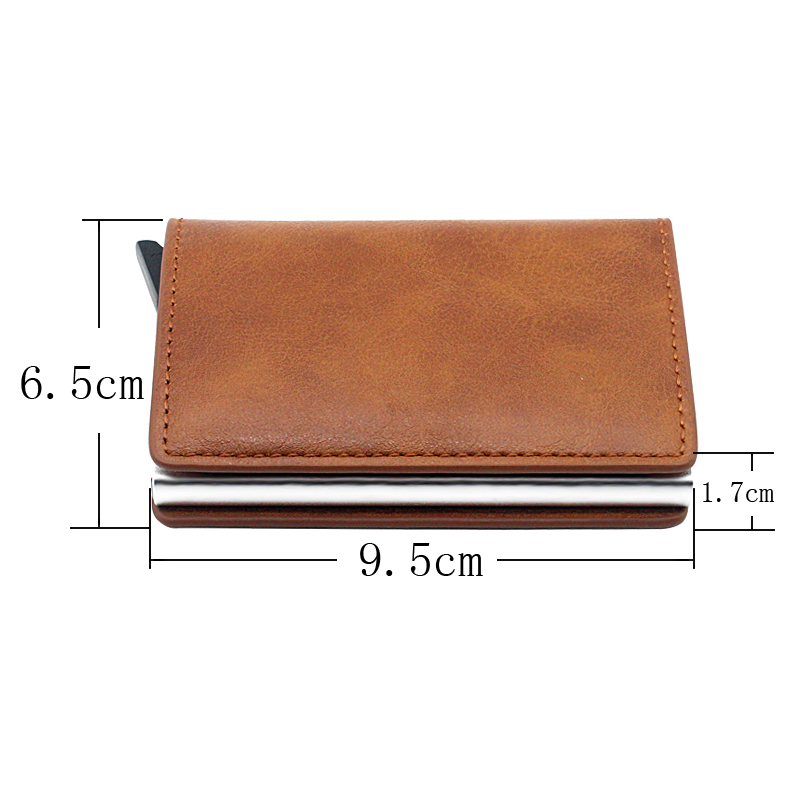 Cool Black Punk Style  Skull Design Card Holder Wallets Men Women Rfid Leather Short Purse Slim Mini Wallet Small Money Bag