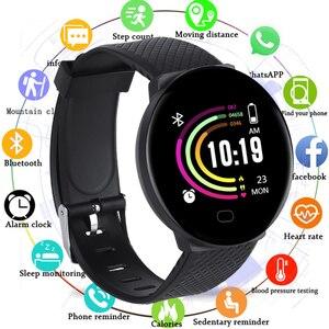Reloj inteligente deportivo para hombre y mujer, reloj inteligente con pantalla grande y control del ritmo cardíaco y de la presión sanguínea para Android IOS