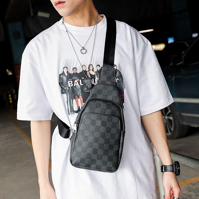 Tidog Lattice Cortex Messenger Individualized And Popular Cross-Body Chest Bag