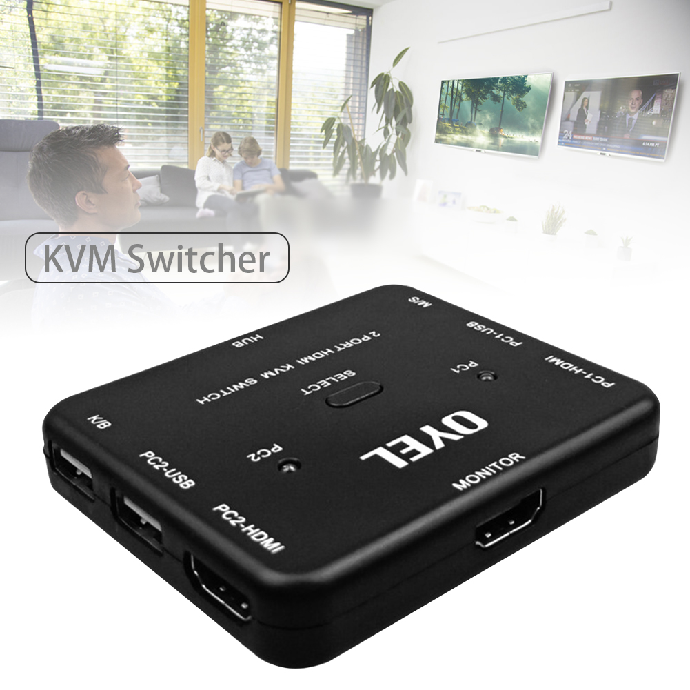 Home HDMI Switch Plug And Play Splitter Bi Direction High Speed For Scanner Portable Ultra HD Stable Universal Converter 2 Ports