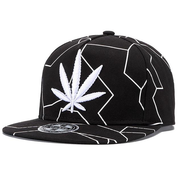 New Cool Maple Leaf Hip Hop Cap Men Women Embroidery Flat Brim Snapback Hats Cotton Outdoor Vintage Hip-hop Baseball Cap Gorras