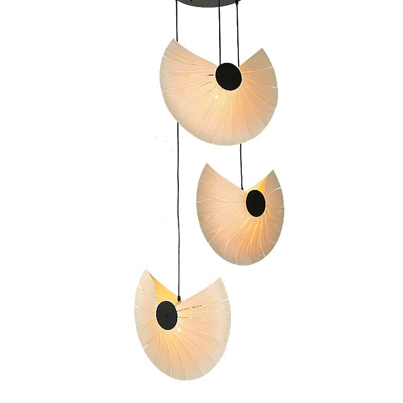 Southeast Asia Chinese Style Wooden Veneer Pendant Lights Living Room Restaurant Lamp Dining Room Hanging Lights lampen