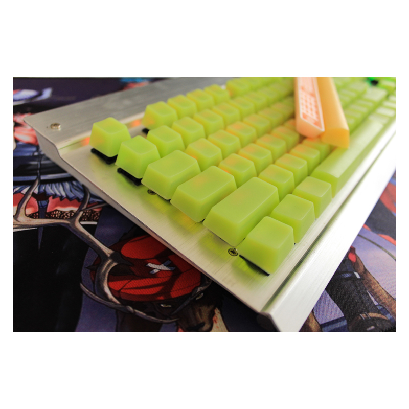 MP New Arrival 104  Silicone Keycaps Blank Keycaps OEM Height For Wired USB Cherry MX Switches Mechanical Keyboard Keycaps