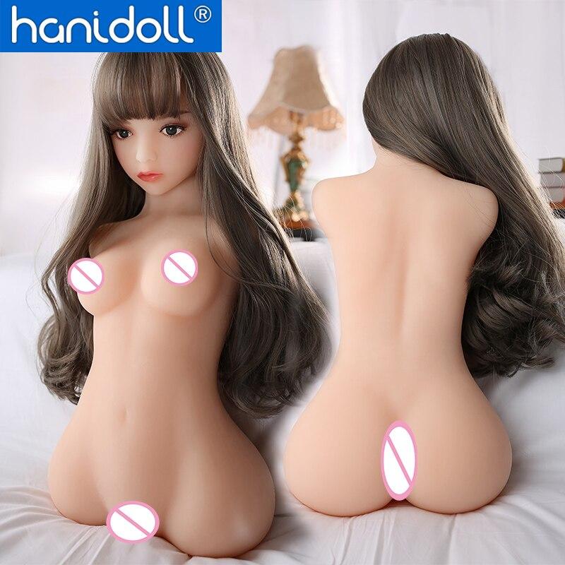 Hanidoll 60cm Meio Corpo Bonecas Sexuais de Silicone Tamanho Realista Vida TPE Bunda Anal Da Vagina Boneca Sexual de Mama para Homens boneca do amor Brinquedos Para Adultos
