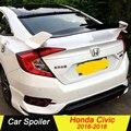 GT стиль ABS спойлер для Honda Civic 2018 2017 2016 автомобильное украшение в виде хвостового крыла задний спойлер багажника для Honda Civic 10th