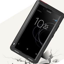 Etui na całe ciało do Sony Xperia XA1 Plus Ultra XZ XZ1 XA2 XA Ultra 2, odporna na wstrząsy metalowa osłona na zbroję do Sony XA Case + szkło Gorilla