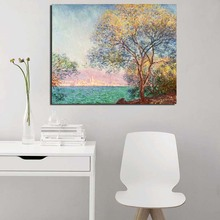 Claude Monet In The Morning Canvas Painting Print Living Room Home Decoration Modern Wall Art Oil Painting Posters Pictures Art claude monet in summer canvas painting prints living room home decoration modern wall art oil painting posters pictures artwork