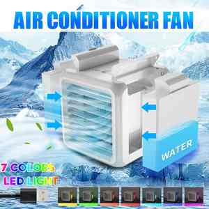 Fan Purifier Conditioning-Humidifier Air-Cooler Portable 2-Water-Tanks Mini USB Desktop
