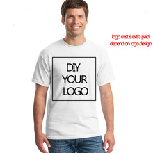 custom logo print cotton tshirt with your DIY t shirts