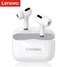 Lenovo LP1S 무선 이어 버드 BT 5.0 헤드폰 TWS 스테레오 이어폰 방수 스포츠 헤드폰 (소음 감소 포함) 내장 마이크