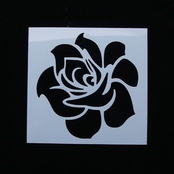 New Arrival 13*13cm Classic Rose Flower Reusable Stencil Airbrush Painting Art Cake Spray Mold DIY Decor Crafts Free Shipping