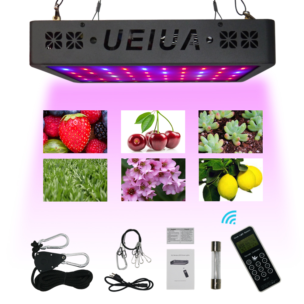 New 1000W 2000W Full Spectrum Plant Growth Lamp LED Supplement Light With Remote Control Indoor Greenhouse Grow Tent Plant Grow