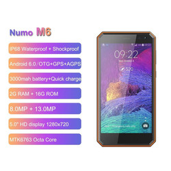 NOMU M6 IP68 Waterproof Smartphone 4G LTE 2GB 16GB 5.0'' HD MTK6737VWT Quad Core Android 7.0 3000mAh Rugged Mobile Phone PK M8