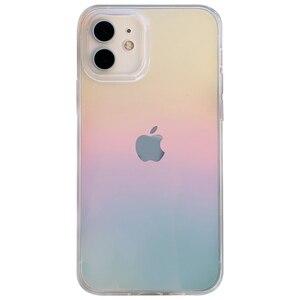 Image 5 - Dla iphone 12 12Pro Max przezroczysty laser odporny na wstrząsy etui dla iphone 11 11pro X XR XS Max 7 8Plus SE twardy akryl skrzynki pokrywa