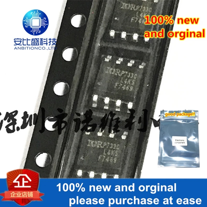 10pcs 100% New And Orginal IRF7469TRPBF F7469 SOP-8 N 40V 9A MOS In Stock