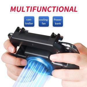 Image 4 - Controlador gamepad joystick r1 l1 shooter joypad jogo almofada refrigerador ventilador com 2000/4000mah power bank l1r1 para telefone android iphone
