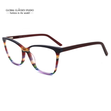 Brillen Rahmen Neue Mode Italien Designer Brille Frauen Männer Grau Rot Braun Bunte Acetat Optische Brillen Freies Verschiffen G86